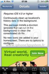 212 Cydia   Untrackerd : Passe en version 0.3