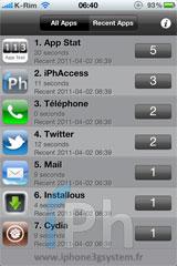 3 Cydia   App Stat : Vos applications les plus utilisées