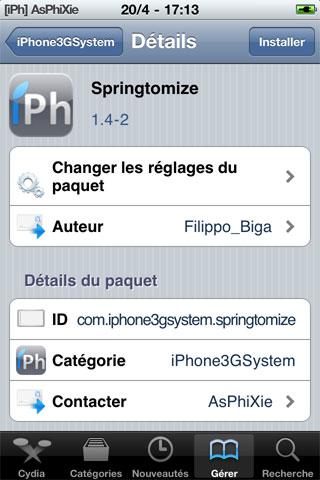 IMG 0092 iPhRepo   Mise à jour de Springtomize en version 1.4 2
