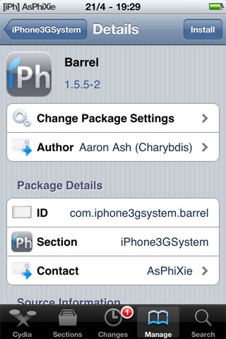 IMG 0094 iPhRepo   Mise à jour de Barrel en version 1.5.5 2 [VIDEO]