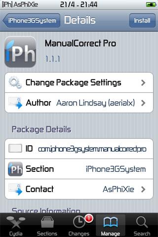 IMG 0096 iPhRepo   Mise à jour de ManualCorrect Pro en version 1.1.1