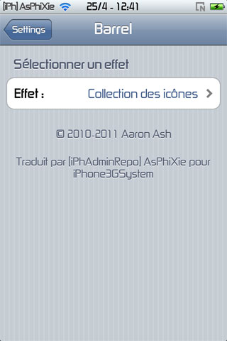 IMG 0108 iPhRepo   Mise à jour de Barrel FR en version 1.5.5 2