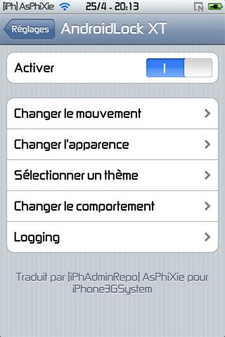 IMG 0112 iPhRepo   Mise à jour de AndroidLock XT FR en version 2.3