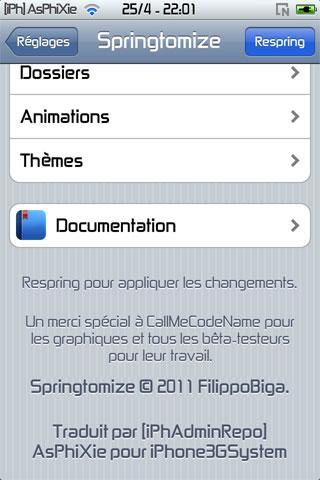 IMG 0116 iPhRepo   Mise à jour de Springtomize FR en version 1.4 2