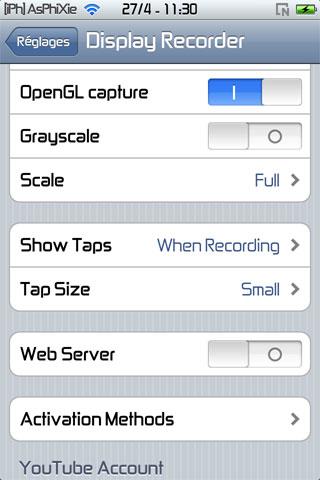 IMG 0126 iPhRepo   Mise à jour de Display Recorder en version 1.2.0 [MAJ]
