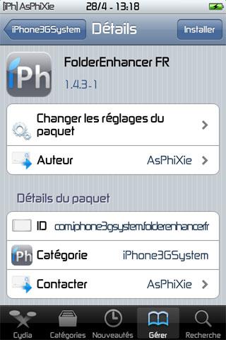 IMG 0134 iPhRepo   Mise à jour de FolderEnhancer FR en version 1.4.3 1