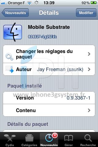 IMG 0173 Cydia   Mise à jour de MobileSubstrate pour liOS 4.3.1