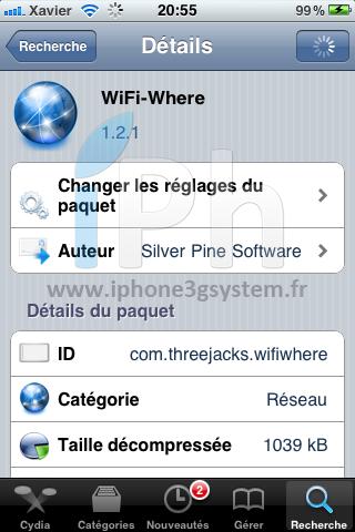 IMG 0199 Cydia   Scannez les réseaux WiFi avec Wifi Where