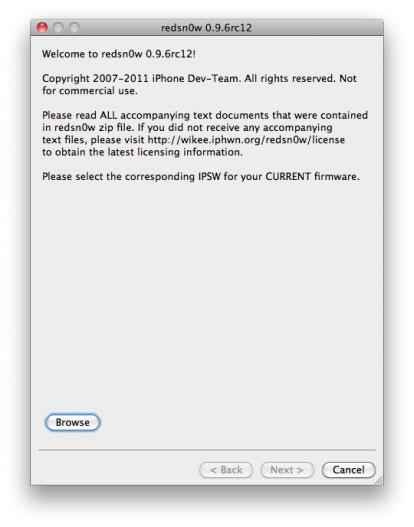 Redsn0w 0.9rc12 Jailbreak News   Redsn0w passe en version 0.9.6rc12
