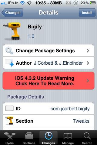 bigify Cydia   Bigify : Personnalisez les icônes du SpringBoard