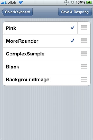 colorkeyboard2 Cydia   ColorKeyboard : Personnaliser votre clavier [CRACK]