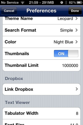 dropboxifile1 Cydia   iFile : Bientôt le support de DropBox