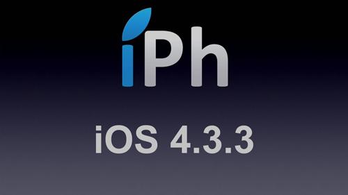 iPhOS Rumeurs   Apple relachera bientôt liOS 4.3.3