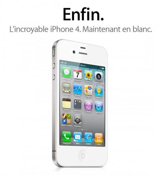 iphone4blanc8 500x561 News   LiPhone 4 blanc disponible aujourdhui chez les opérateurs [MAJ]