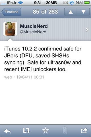 itunessafe10.2.2 News   iTunes passe en version 10.2.2
