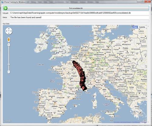 netrackerwindows 500x415 News   iPhone Tracker : Maintenant disponible pour Windows