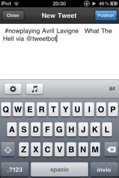 nowplayingfortweetbot1 Cydia   NowPlaying for TweetBot disponible sur Cydia