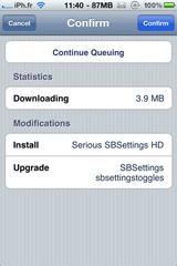 sbsettings3 Cydia   SBSettings passe en version 3.3.1
