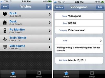 screen1 AppStore   Créez une liste de vœux avec WishOnList