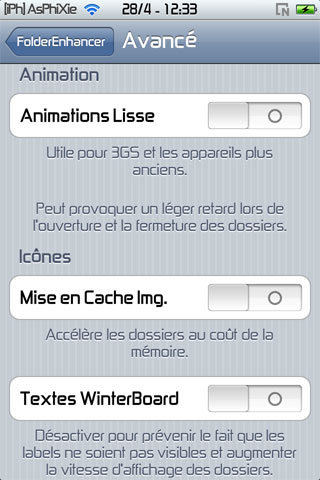 screen4 241 iPhRepo   Mise à jour de FolderEnhancer FR en version 1.4.3 1