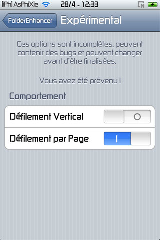 screen5 241 iPhRepo   Mise à jour de FolderEnhancer FR en version 1.4.3 1