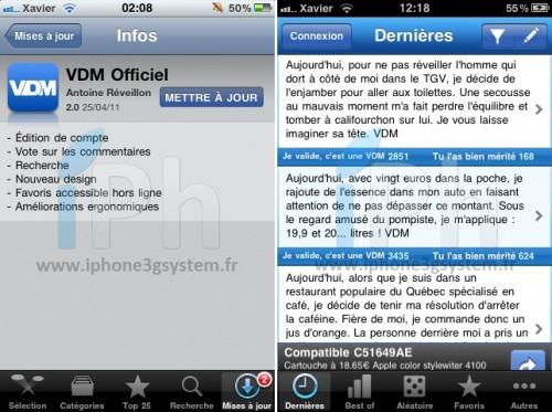 vdmofficiel 500x373 AppStore   VDM Officiel se met à jour en version 2.0