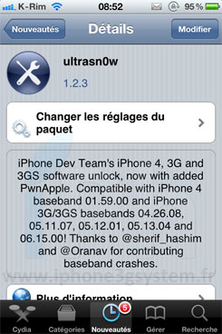 11 Jailbreak News   Ultrasn0w 1.2.3 compatible iOS 4.3.3