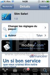 16 Cydia   Safari Mobile : Personnaliser la barre de chargement avec Slim Safari