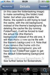 2 Cydia   FolderFixer : Régler lincompatibilité entre Winterboard et les dossiers