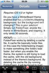 3 Cydia   FolderFixer : Régler lincompatibilité entre Winterboard et les dossiers