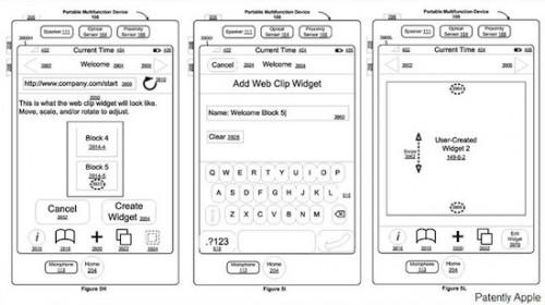 5 Apple Wins a Patent for Creating Web Clip Widgets on an iOS Device May 2011 500x280 News   Nouveau brevet dApple concernant les widgets