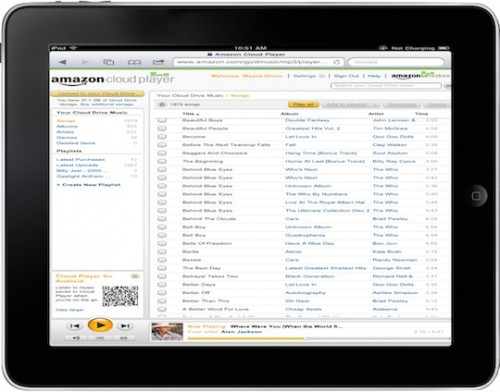 Amazon.Cloud .Player.iPad .Landscape.05082011 500x392 News   Amazon Cloud Player compatible iOS