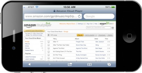 Amazon.Cloud .Player.iPhone.Landscape.05082011 500x257 News   Amazon Cloud Player compatible iOS