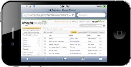 Amazon.Cloud .Player.iPhone.Landscape.05082011 500x257 News   Amazon Cloud Player compatible iOS