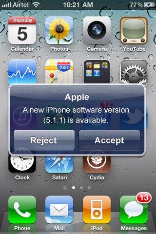 Apple iPhone OTA Updates Rumeur   iOS 5 Over The Air : Les Mises à Jour sans iTunes ?