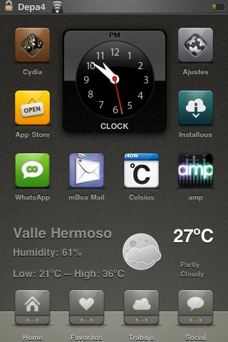 Flat Weather PerPageHTML Widget 1.0 Cydia   La météo sur votre springboard avec Flat Weather PerPageHTML