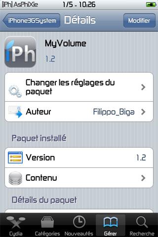 IMG 0145 iPhRepo   Mise à jour de MyVolume en version 1.2