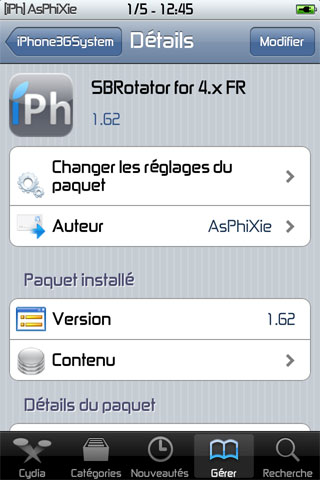 IMG 0151 iPhRepo   Mise à jour de SBRotator for 4.x FR en version 1.62