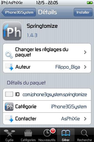 IMG 0222 iPhRepo – Mise à jour de Springtomize en version 1.4 3 [MAJ]