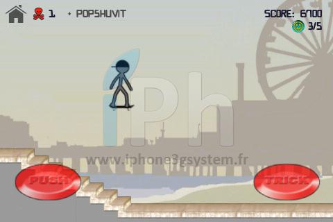 IMG 0268 Promo: AppStore Free   Stickman Skater est gratuit aujourdhui