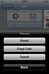 IMG 0489 160x240 Cydia   ShareApp, recommander une application de lAppStore via Twitter/Mail