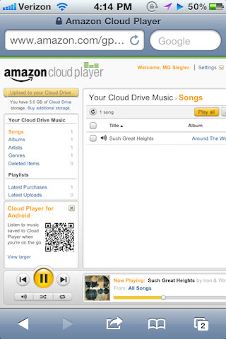 amazon News   Amazon Cloud Player compatible iOS