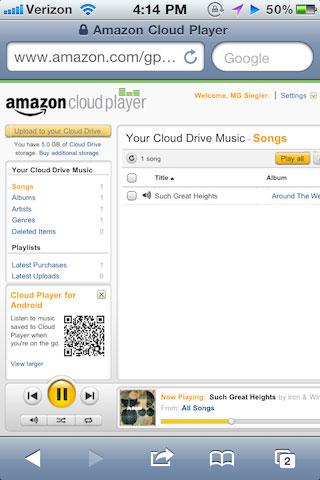 amazon News   Amazon Cloud Player compatible iOS