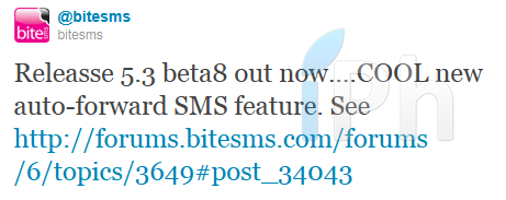 biteSMS2 Cydia   BiteSMS 5.3 bêta 8 disponible