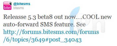 biteSMS2 Cydia   BiteSMS 5.3 bêta 8 disponible