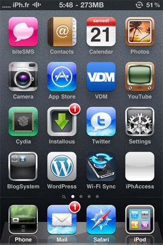 bolt3 Cydia   Bolt : Supprimez licône de la batterie de votre barre de statut