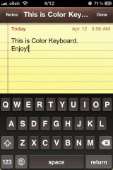colorkeyboard3 Cydia   Color Keyboard passe en version 1.1.3