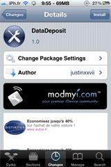 datadeposit Cydia   DataDeposit sauvegarde vos données dapplications sur le cloud