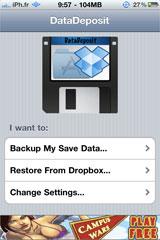datadeposit2 Cydia   DataDeposit sauvegarde vos données dapplications sur le cloud