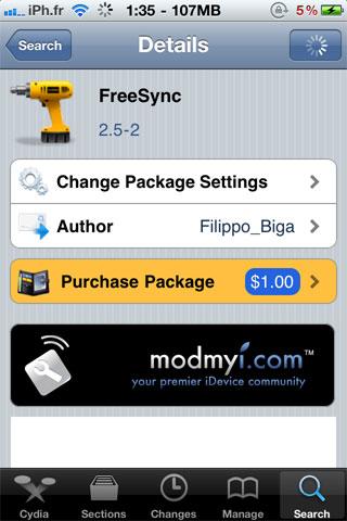 fressync Cydia   FreeSync passe en version 2.5 2 [MAJ : Dispo sur la repo]